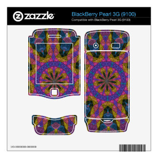 Colorful decorative mosaic BlackBerry decals