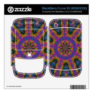 Colorful decorative mosaic decals for the BlackBerry