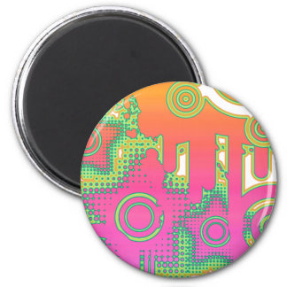 Colorful/Decorative Urban Style Custom Design 2 Inch Round Magnet