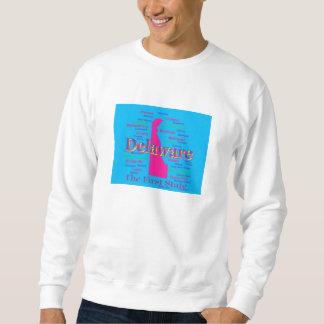 Colorful Delaware State Pride Map Silhouette Sweatshirt