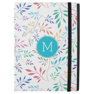 """Colorful Delicate Abstract Leafs Pattern iPad Pro 12.9"""" Case"""