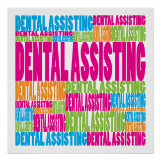 Colorful Dental Assisting Poster