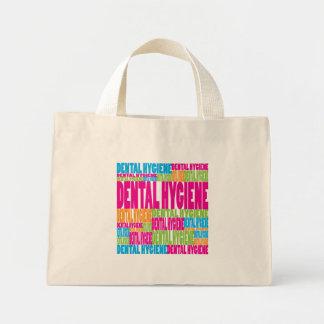 Colorful Dental Hygiene Mini Tote Bag