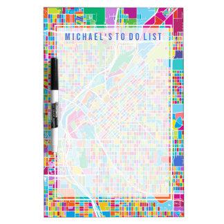 Colorful Denver Map Dry-Erase Board
