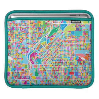 Colorful Denver Map Sleeve For iPads