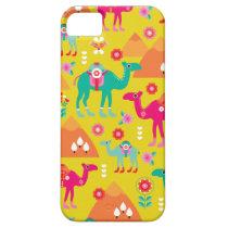 Colorful desert camel egypt peramide iPhone SE/5/5s case