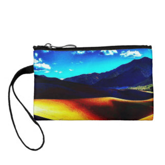 Colorful Desert Damage Key Coin Clutch