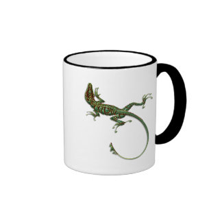 Colorful Desert Lizard Ringer Coffee Mug
