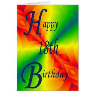 Colorful Design 18th Birthday Card