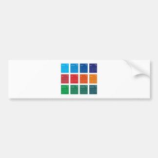 Colorful Design 2014 Calendar Vector Bumper Sticker