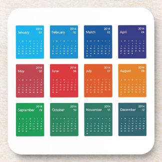 Colorful Design 2014 Calendar Vector Coaster