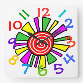 Colorful Design  Children's Room Wall Clock