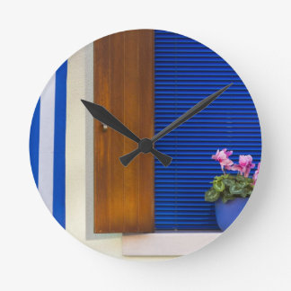 Colorful design contrast on residence round clock