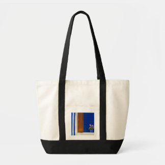 Colorful design contrast on residence tote bag