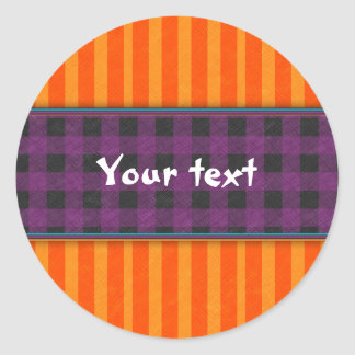 Colorful Design for Halloween Classic Round Sticker