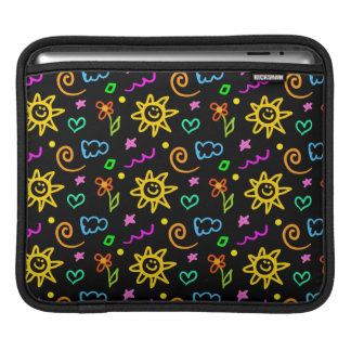 Colorful design of background for kids iPad sleeve