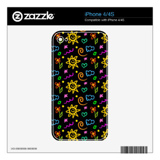 Colorful design of background for kids skin for iPhone 4