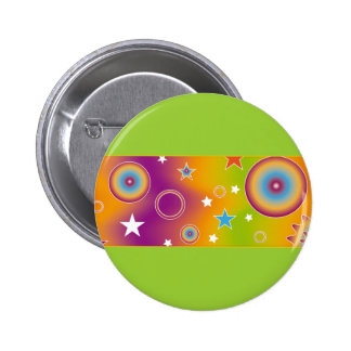 Colorful design with stars and circles button