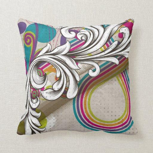 Colorful DesignReversible Decorative Pillow Zazzle