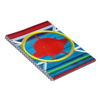 Colorful details spiral notebook