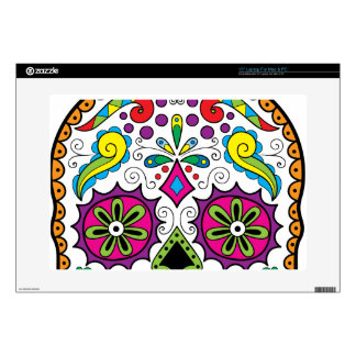 Colorful Dia Des Los Muertos Products Skin For Laptop