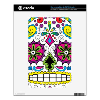 "Colorful ""Dia Des Los Muertos"" Products Skin For The NOOK Color"