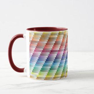Colorful diagonal pattern coffee mug