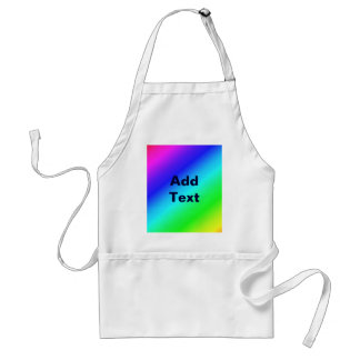 Colorful Diagonal Stripes – 1 Adult Apron