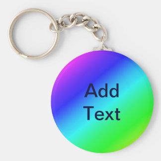 Colorful Diagonal Stripes  – 1 Keychain