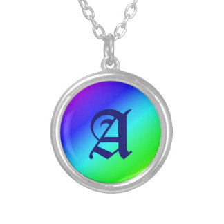 Colorful Diagonal Stripes – 1 Silver Plated Necklace