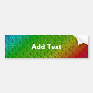 Colorful Diagonal Stripes and Flowers – 2 Bumper Sticker