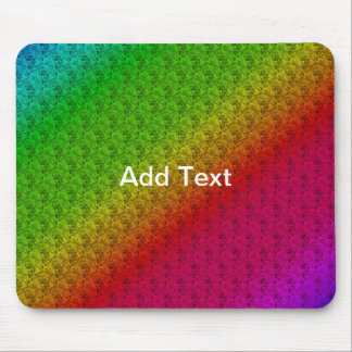 Colorful Diagonal Stripes and Flowers – 2 Mouse Pad