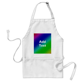 Colorful Diagonal Stripes and Flowers Apron