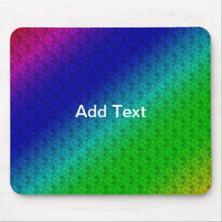 Colorful Diagonal Stripes and Flowers Mousepad