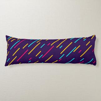 Colorful diagonal stripes body pillow