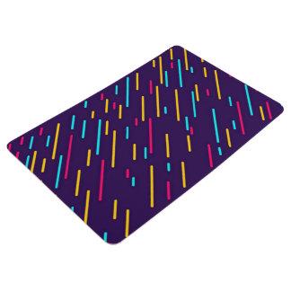 Colorful diagonal stripes floor mat