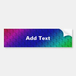 Colorful Diagonal Stripes & Flowers Bumper Sticker