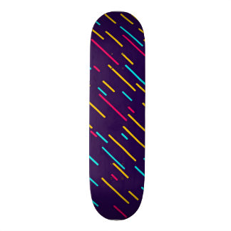 Colorful diagonal stripes skateboard