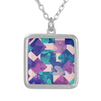 Colorful Diamond And Square Necklace
