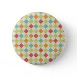 Colorful Diamond Argyle Pattern Gifts Button