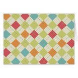 Colorful Diamond Argyle Pattern Gifts Card