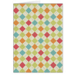 Colorful Diamond Argyle Pattern Gifts Cards