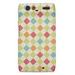 Colorful Diamond Argyle Pattern Gifts Droid RAZR Cover