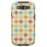 Colorful Diamond Argyle Pattern Gifts Samsung Galaxy SIII Cases
