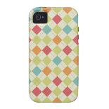 Colorful Diamond Argyle Pattern Gifts Vibe iPhone 4 Cover