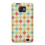 Colorful Diamond Argyle Pattern Gifts Samsung Galaxy SII Cases