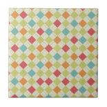 Colorful Diamond Argyle Pattern Gifts Ceramic Tile