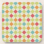 Colorful Diamond Argyle Pattern Gifts Drink Coasters