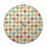 Colorful Diamond Argyle Pattern Gifts Dartboard With Darts