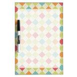 Colorful Diamond Argyle Pattern Gifts Dry-Erase Whiteboards